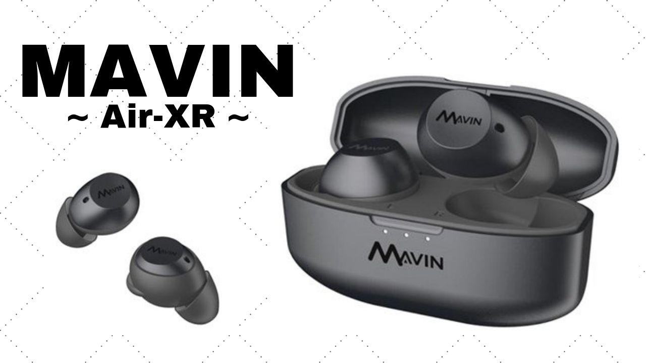 【Mavinワイヤレスイヤホン】Air-XRは最大10時間再生とIPX7を搭載!ワイヤレス充電にも対応!