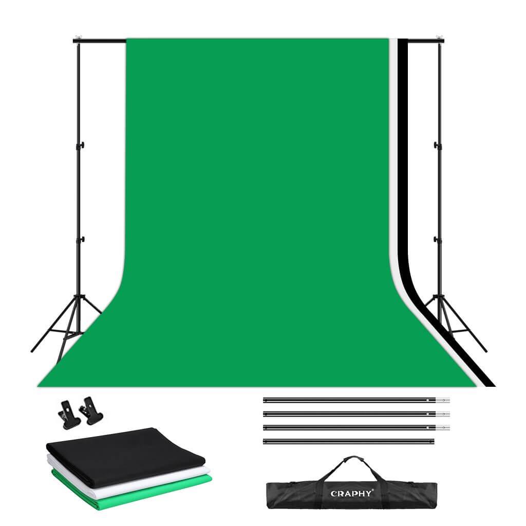 【Youtube撮影用におすすめ レビュー】クロマキー合成用のCRAPHY背景スタンドキット【合成撮影初心者でも安くて買いやすい】