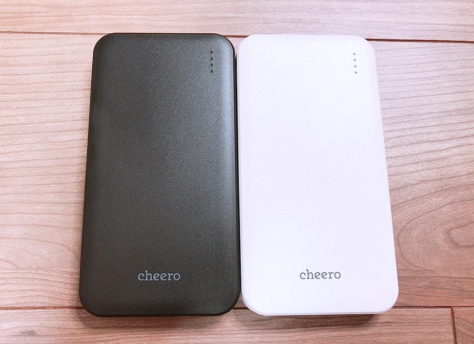 【cheero Bloom 10000mAh レビュー】iPhone8が3.5回フル充電できる!大容量なのに格安モバイルバッテリー【CHE-107-BK】