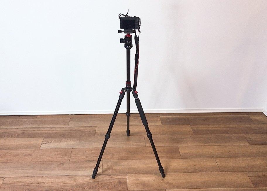 【Tycka TK101 カメラ三脚 レビュー】コスパ抜群!一脚可変式&自由雲台付き 全高1640mm