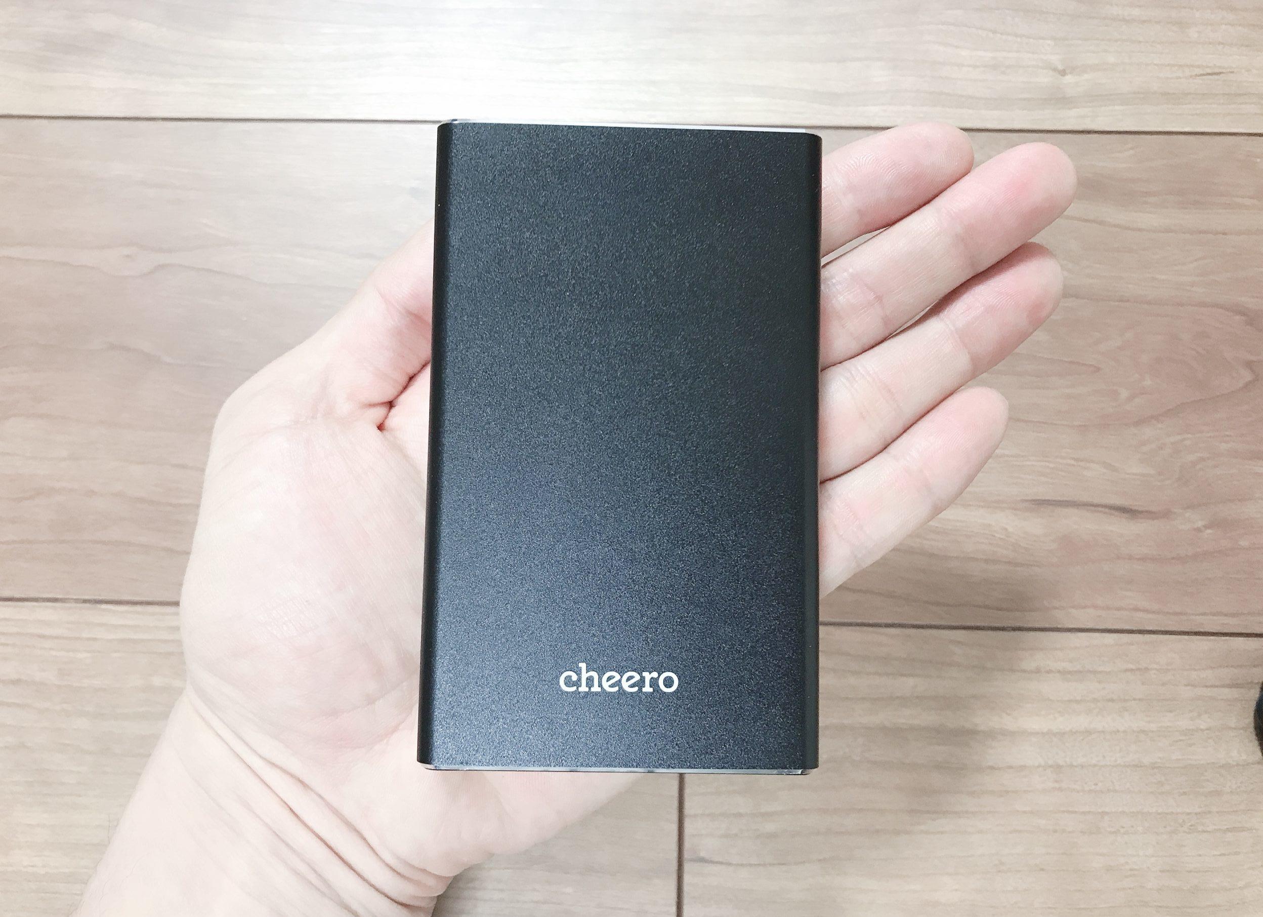 【cheero Power Plus 5 15000mAh レビュー】2ポート搭載&PD45W対応の急速充電できるモバイルバッテリー【CHE-106】