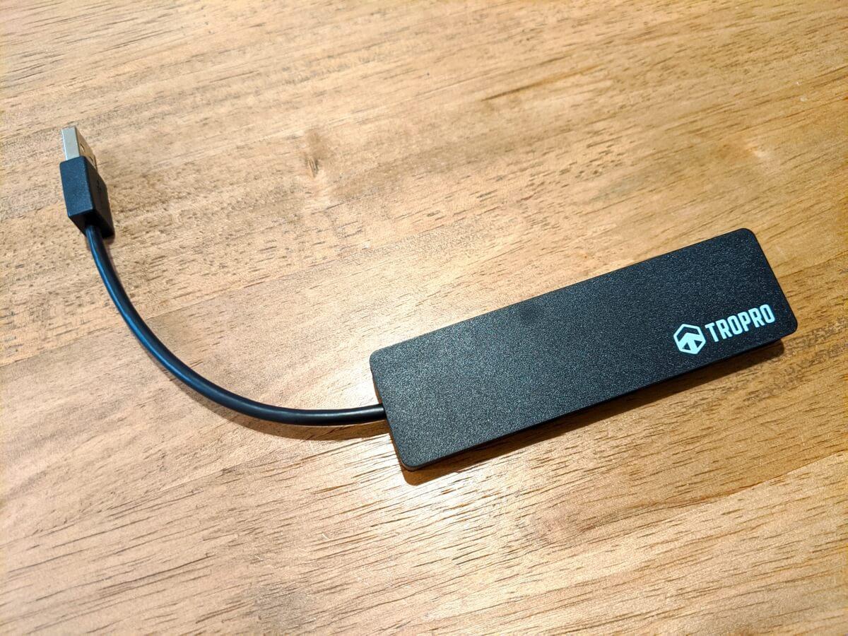 【TROPROウルトラスリム4ポートハブ レビュー】高速転送+USB-AとCに対応した使いやすいUSBハブ